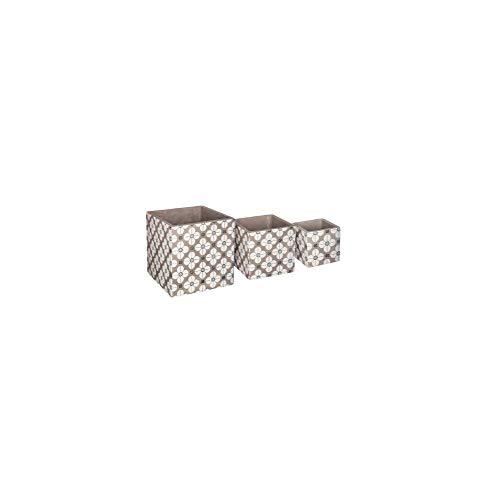 AC-Déco Lot De 3 Caches Pots Carrés - Ciment - Modèle Aléatoire