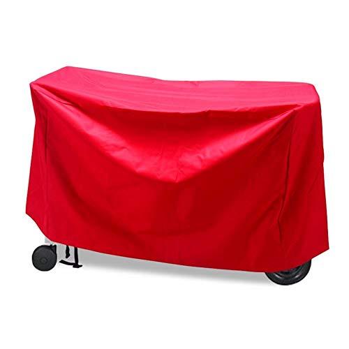 Nevy Housse pour Table De Jardin Couverture De Patio Heavy Duty Oxford Imperméable Housse De Protection Rectangle, 2 Couleurs (Color : Red, Size : 120cmx47cmx103cm)