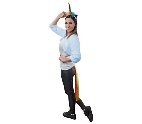 COOLMP - Juego de 6 piezas de disfraz de unicornio Rainbow