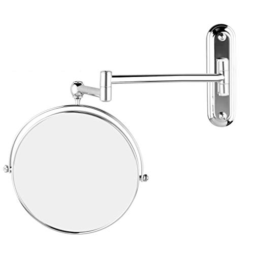 GURUN 10x Magnification Wall Mounted Mirror Swing ArmTwo Sided,8 Inch, Solid Bathroom Mirrors Wall Mounted Chrome Finish M1207(8in,10x)