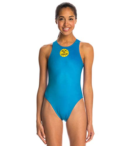 Turbo Wasserballanzug Damen Waterpolo WP Schwimmanzug Wasserball Marine blau, türkis oder grün (Petrol, 34 / Turbo L)