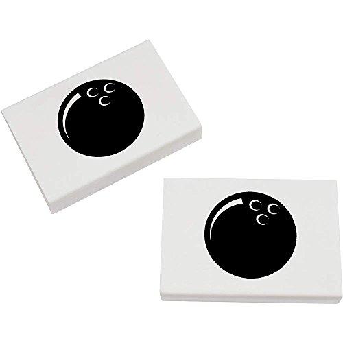 Azeeda 2 x 45mm 'Bowlingkugel' Radiergummis (ER00009304)