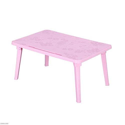 TX JAIOJIAO Studie Table Faltbare Student Internat Kleinen Tisch Einfache Studie Tisch Laptop-Tisch,Pink