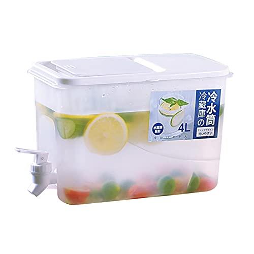 Thrivinger 4 L Kühlschrank Wasserspender Mit Wasserhahn, Getränkespender, Wasserbehälter Wasserhahn Desktop Kühlschrank Wasserkanne Für Die Zubereitung Von Tees Und Säften BPA-frei