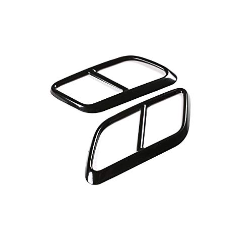 YIWANG 304 Stainless Steel Car Exhaust Pipe Cover Trim Accessories For Land Rover Range Rover Velar 2017 2018 2019 (Black)