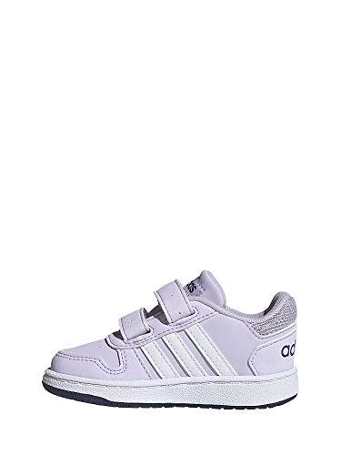 adidas Hoops 2.0 CMF Indoor, Zapatillas de básquetbol Unisex Niños, Prptnt/Ftwwht/Tecind, 20 EU
