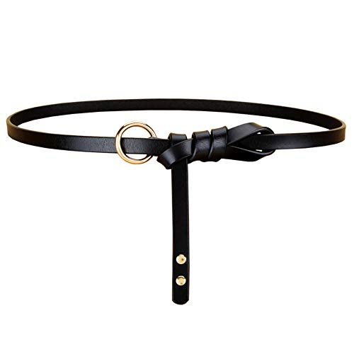 WOAIWJXYZ Cinturón unisex cuero anudado cinturón