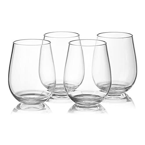 qinqin 4pc / Set Copa de Vino de plástico PCTG CUBIERTE Red VIBLER CUPAS CUPAS Cubiertas DE CERVAZA DE Fruta REUTIDOR (Capacity : 401 500ml)