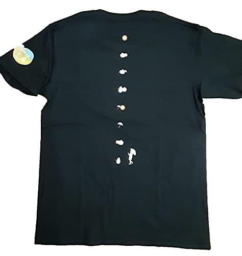 連続テレビ小説「おかえりモネ」Tシャツ(黒)背面+左型印刷 (Mサイズ)