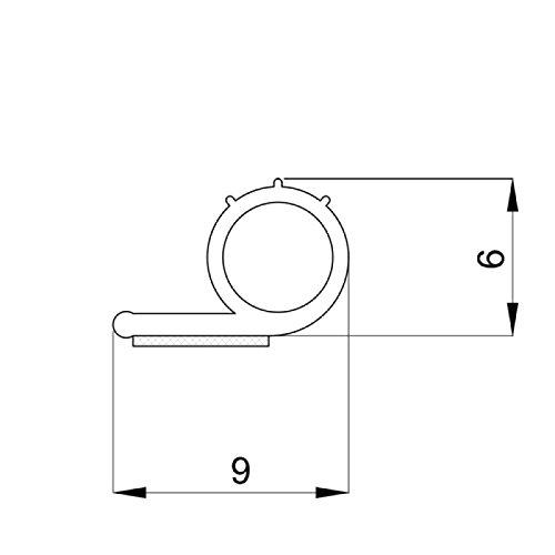DIWARO® Selbstklebende - Dichtung SK009 | weiß | 5 Meter | geeignet als Fensterdichtung wie auch als Türdichtung. Mit starken und sehr haltbaren Klebeboden.