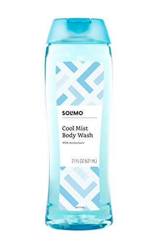 Amazon Brand - Solimo Body Wash, Cool Mist Scent, 21 fl oz (Pack of 1)