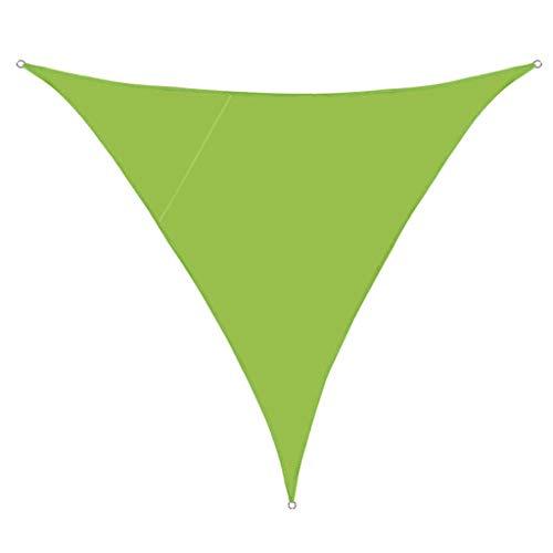 GUOIOOI Parasol, Vela, triángulo, Bloque UV, Dosel, toldo, Refugio, Tela, Tela, Pantalla, Permeable, Bloque UV, Tela, Duradera, Exterior (Color : K, Size : 5X5X5M)