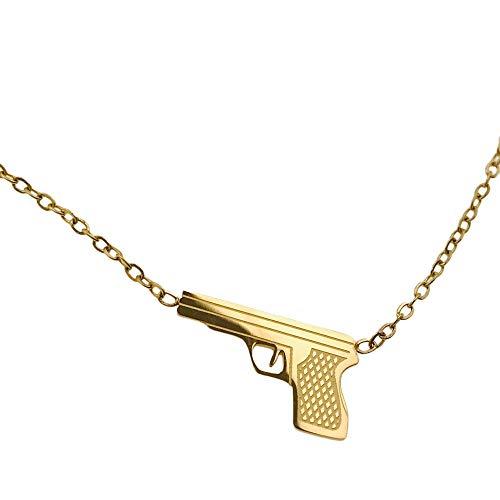 Collar famoso AISADI 200081653/14 para regalo, rosario revuelto, chapado en oro, antialergénico, de acero inoxidable quirúrgico, Bluberry TTM Xuping Moonriver, de acero inoxidable SUNLIGHT