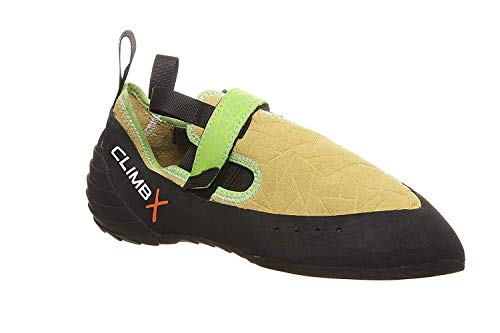Climb X Zion Climbing Shoe with Free Sickle M-16 Climbing Brush (Men's 5, Yellow)