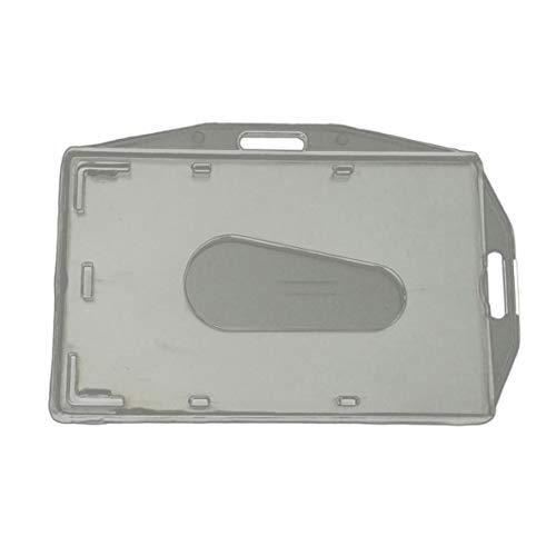 nbvmngjhjlkjlUK Tarjetero, Tarjetero Horizontal y Vertical bidireccional Integrado Transparente PC Tarjetero de plástico Duro Tarjetero Interior (Transparente)