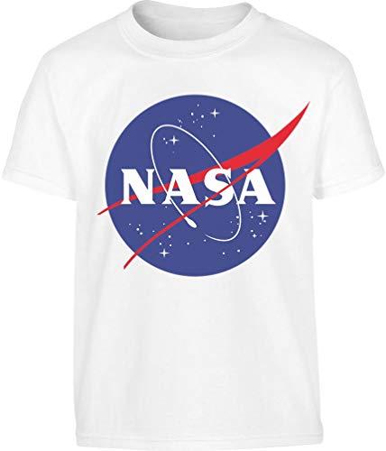 NASA Logo Space Raumfahrt Kinder Outfit Kinder und Teenager T-Shirt 164 Weiß