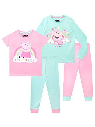 Peppa Pig Pijamas niñas Paquete 2 Ajuste Ceñido