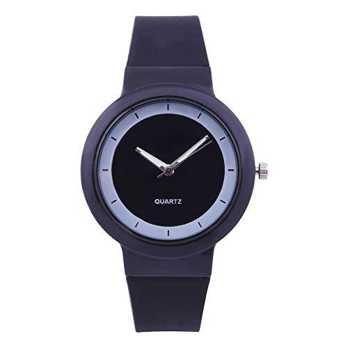 Relojes Para Mujer Moda Mujer Moda Silicona Banda analógica Cuarzo Reloj Reloj Reloj Relojes Reloj Reloj Reloj de San Valentín Regalo Relojes Decorativos Casuales Para Niñas Damas ( Color : Black )