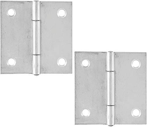 SECOTEC Scharnier quadratisch DIN 7954C / 40 x 40 mm / gerade / Stahl verzinkt / 2 Stück