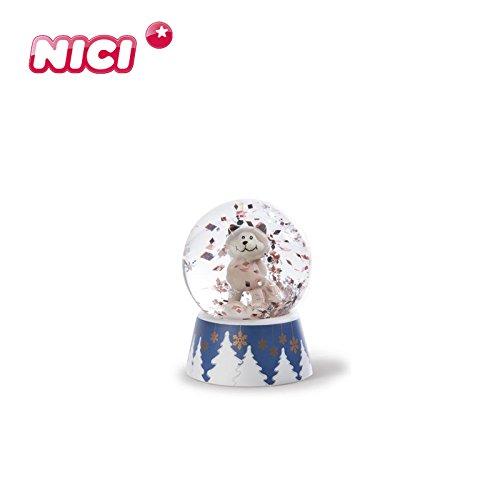 Nici - 40943 - Schneekugel, Schüttelkugel, Schneekatze, Polyresin, 6,5cm x 4,5cm