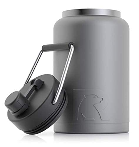 RTIC Jug with Handle, Half Gallon, Graphite Matte, Large Double Vacuum...
