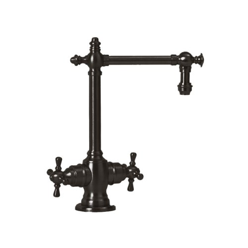 Waterstone 1750HC-ORB Towson Filtration Faucet Hot and Cold with Double Cross Handles, Black Oil Rubbed Bronze