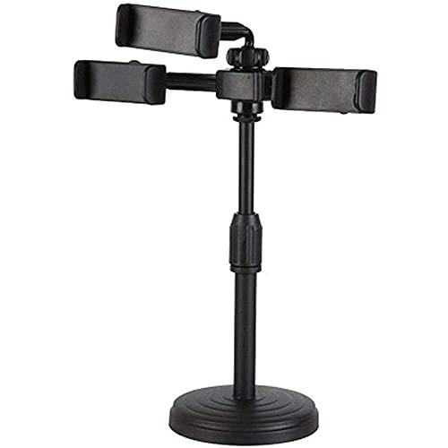 qiaohuan shop Selfie Stick, ajustable multi-cámara de escritorio en vivo titular de transmisión del teléfono móvil selfie stick