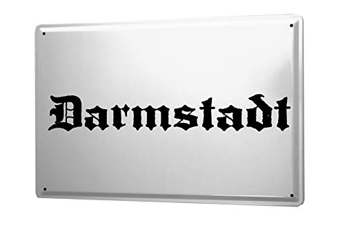 leotie fashion&lifestyle Targa in Metallo Darmstadt Città Nome e Cognome Città Città Nome Capitale Città 20x30