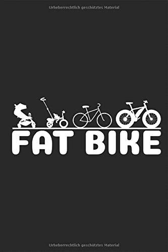 Fat bike Evolution: Fatbike Lustig Notizbuch MTB Beach Cruiser Fahrrad dicke fette Mountainbike Bergfahrrad Reifen Planen Notieren Rechenheft Liniert ... Tagebuch Geschenk für Fahrradfahrer Radfahrer