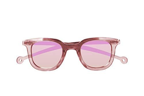 Parafina - Gafas de Sol Polarizadas para Hombre y Mujer - Gafas de Sol Cuadradas Anti-reflejantes Rosas con Efecto Espejo - Lentes Rosas