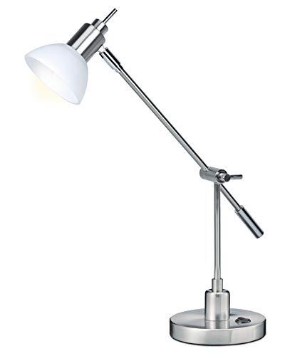 LIGHTZONE LED Schreibtischleuchte mit Standfuß, nickel matt