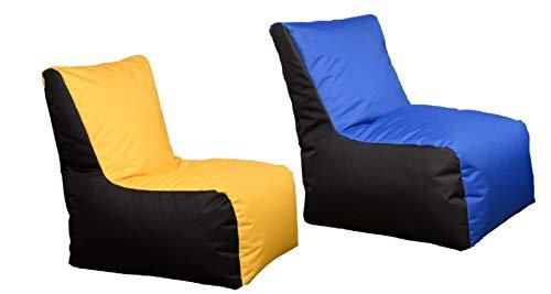 GiantBag Puf de 2 colores con cremallera, para interior y exterior (XXL, XXXL)