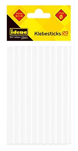 Idena 60048 - Klebesticks für Heißklebepistole, je 7,2 mm x 10 cm, 20 Stück