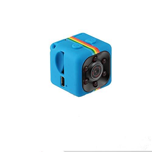 Teepao Mini Camara Espia, Mini CAM Surveillance Cámara Portable HD 1080P con Detección de Movimiento Visión Nocturna, Videograbador por Infrar Rojos Vigilancia Vigilar Su Casa - Azul