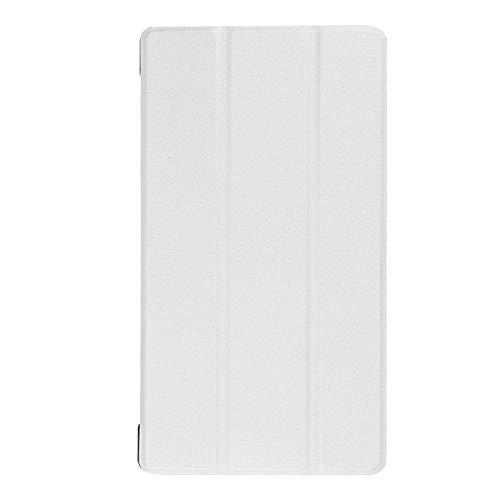 Adecuado para Lenovo Tab 7 Funda para Tablet PC Essential TB-7304F Soporte de Plegado Triple Funda de Cuero de 7 Pulgadas-Blanco_Lenovo / Lenovo