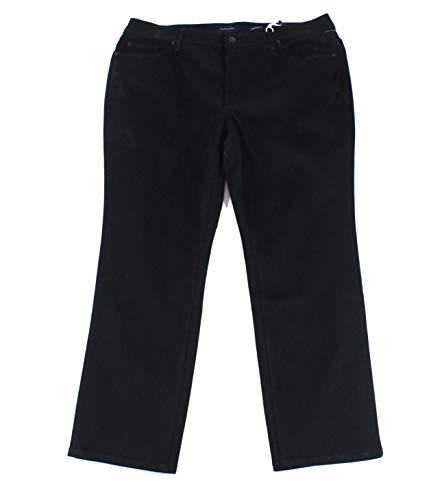 Charter Club Womens Lexington Straight Leg Jeans, Black, 22W Short