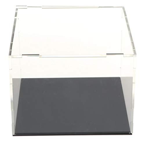 HomeDecTime Vitrina de Acrílico Transparente Caja de Presentación a Prueba de Polvo para de Acción Coleccionable - 14x14x10.5cm