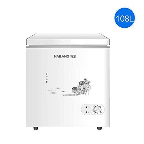 QCYSK Mini-Kühlschrank 108L Gewerblicher, eintüriger Gefrierschrank, Energiesparender Haushaltskühlschrank mit großer Kapazität und Einstellbarer Thermostatsteuerung, weiß