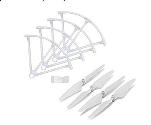 Eddwiin per Hubsan H216A X4 Desire PRO Ricambi 4 Pezzi Lama elica + 4 Pezzi Set Protezione elica ( Color : 1 Set Blades Frame )