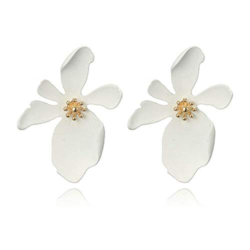 CiNily Ladies Sutd Earrings-Chic Flower Statement Earrings with Gold Flower Bud, Fashion...