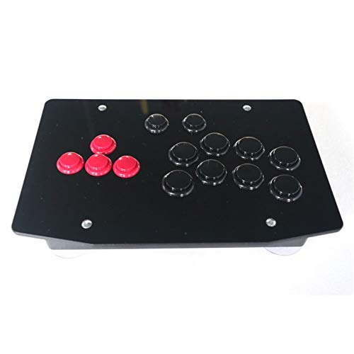 JZYLOVE JINZHIYANG RAC-J501B Alle Tasten Arcade Fight Stick Controller Hitbox-Stil Joystick Fit für PC USB (Color : Other Contact US)