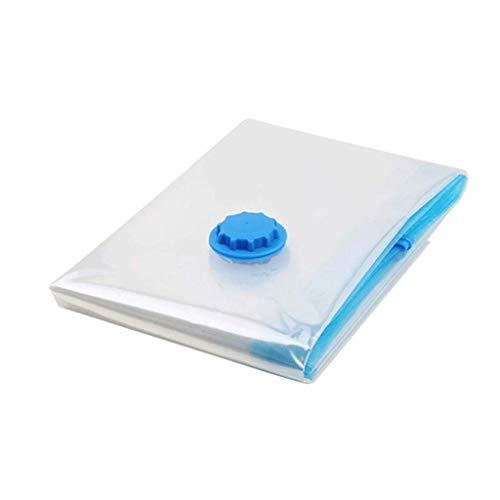 FXJ Vacío Bolsa Bolsa de Almacenamiento Organizador del hogar del Borde Transparente Plegable Ropa Organizador Sello comprimido Viaje Bolso del Ahorro Paquete (Color : Medium)
