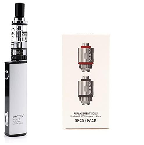 ✅100% AUTHENTIQUE✅ cigarette électronique justfog q16 kit complet (argent) + 5 résistances justfog 1.6ohm le produit ne contient pas de nicotine ni de tabac (Q16 KIT + 5 Résistances)