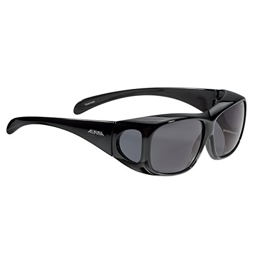 ALPINA OVERVIEW Sportbrille, Unisex – Erwachsene, black transparent, one size