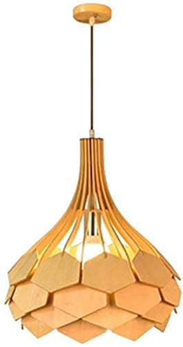 Lámpara de araña de hilo de hierro forjado de estilo europeo E27 Pantalla de luz colgante vintage, Downlight de madera Acabados pintados Lámpara de araña de madera Lámpara industrial Lámpara anti