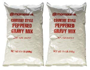 Morrison's Country Style Peppered Gravy Mix 1 1/2 Lb. Just Add Water - Large & Small Batch Instructions