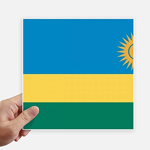 DIYthinker Drapeau National Rwanda Afrique Country Square Autocollants 20CM Mur Valise pour Ordinateur Portable Motobike Decal 4Pcs 20Cm X 20Cm Multicolor