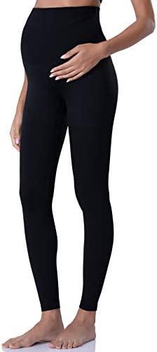POSHDIVAH Women s Maternity Leggings Over The Belly Pregnancy Yoga Pants Active Wear Workout product image