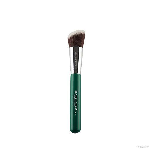 Blank Canvas F21 Pinceau de maquillage multi-usage biseauté Contour Visage Argent/Vert/Argent/Vert 1 Unités