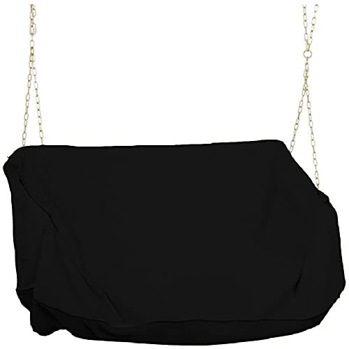 Hanging Porch Swing Cover Waterproof for Outdoor Funiture Heavy Duty Patio Wooden Yard Swing Chair Cover Replacement 61x27.5X(35-27.5) Inch Black